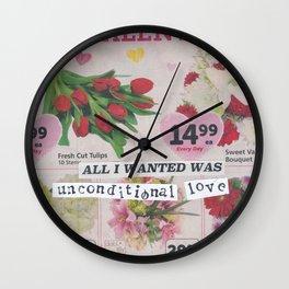 Unconditional Love / Valentine Wall Clock