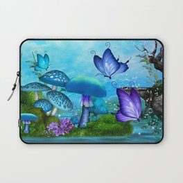 Mystic Whimsey Butterfly Pond Fantasy Laptop Sleeve
