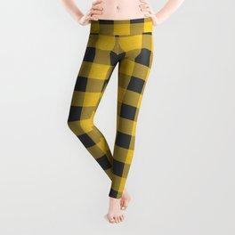 Yellow Flannel Checkers Leggings