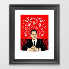 Twin Peaks: Dale Cooper's Thoughts Framed Art Print