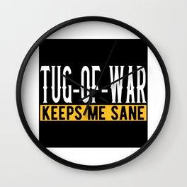 Tug Of War Lovers Gift Idea Design Motif Wall Clock