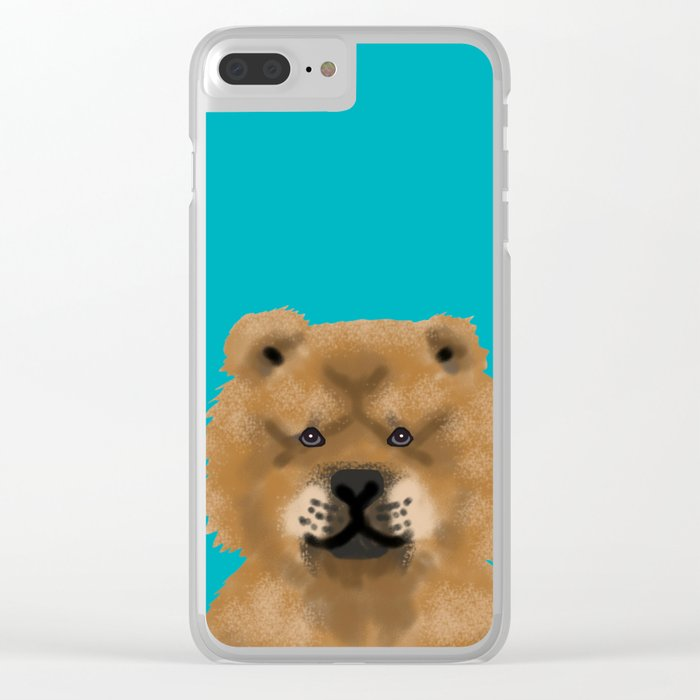 Chow Chow pet portrait custom dog art dog breeds by pet friendly Clear iPhone Case