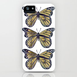 Gold Butterfly iPhone Case