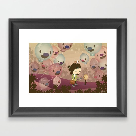 Balloon Tree Song Framed Art Print
