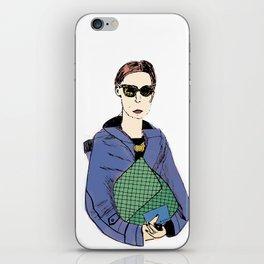 Bag Lady Blue iPhone Skin