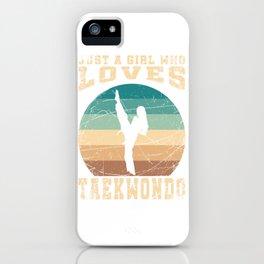Girl Loves Taekwondo iPhone Case