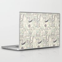 shopping Laptop & iPad Skins featuring Paris Shopping by RED ROAD STUDIO