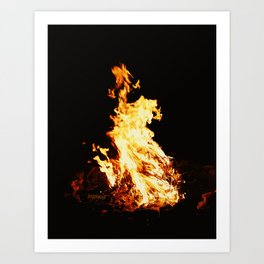"""Camp Fire"" - jjhelene Art Print"