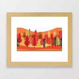 Fall Forest Three Framed Art Print