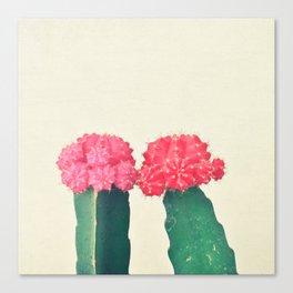 Plaid Cacti Canvas Print