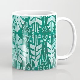 JUNGLE IKAT Green Tropical Monstera Coffee Mug