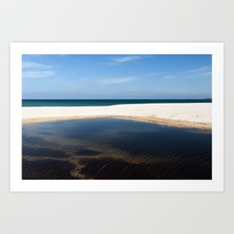 Beach Pool 3 Art Print