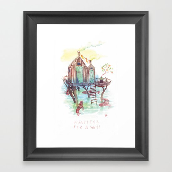 A While Framed Art Print