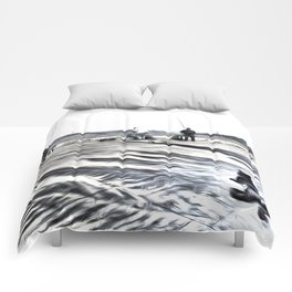 The Waiting Game Art Comforters