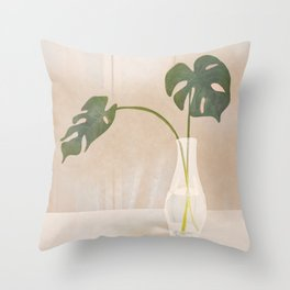 A Couple of Monstera Leaves Throw Pillow
