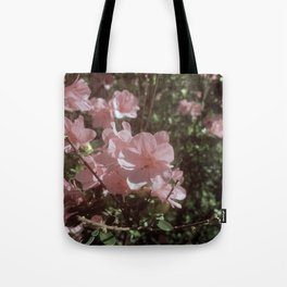 Happy Little Pink Flowers Tote Bag