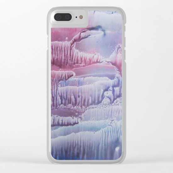 blue underwater world 1 Clear iPhone Case