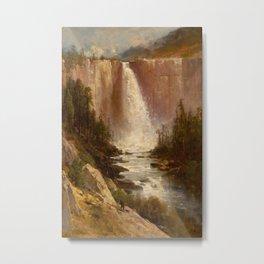 Thomas Hill - Nevada Falls, Yosemite Metal Print