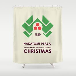 Nakitomi Plaza - Action movie Christmas Shower Curtain