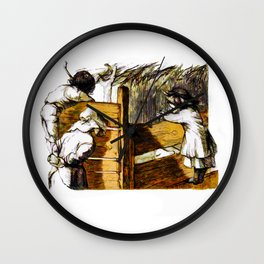 The Pig Pen Wall Clock