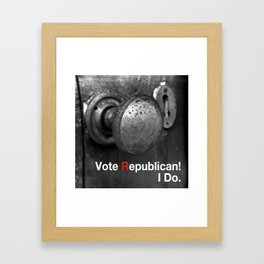 Vote Republican. Framed Art Print