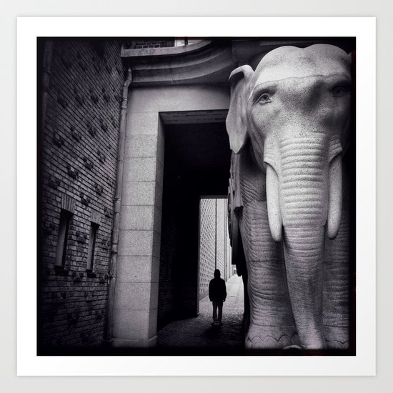 Elephant Gate Art Print