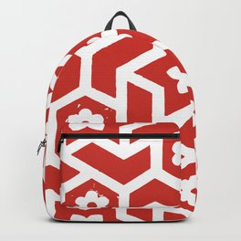 Tiled, Red and White Backpack