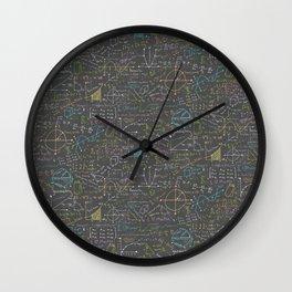 Math Lesson Wall Clock