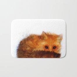 Shy Red Fox Bath Mat