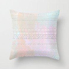 Tribal Pastel Watercolor  Throw Pillow
