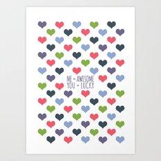 Lucky In Love Art Print