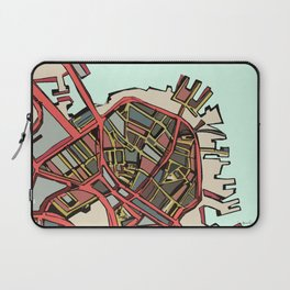 Abstract Map- Boston North End Laptop Sleeve