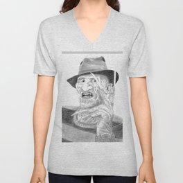 Freddy - Portrait - Drawing Unisex V-Neck