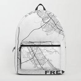 Minimal City Maps - Map Of Fremont, California, United States Backpack