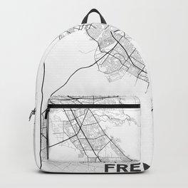 Minimal City Maps - Map Of Fremont, California, United States Backpack