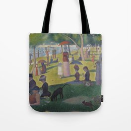 A Sunday Afternoon on the Island of La Grande Jatte (High Resolution) Tote Bag