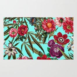 Marijuana and Floral Pattern II Rug