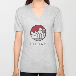 Bilbao city  Unisex V-Neck