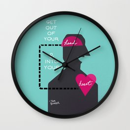 Head/Heart Wall Clock