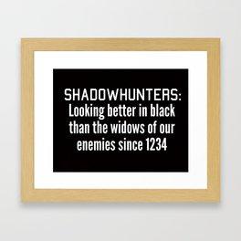 Looking Better In Black Framed Art Print