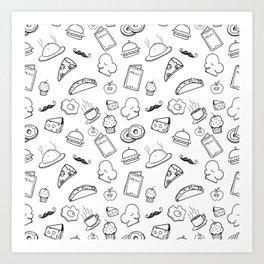 Food Food Black & White Art Print