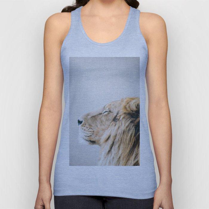 Lion Portrait - Colorful Unisex Tank Top