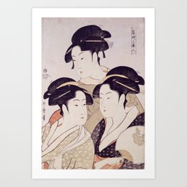 Three Beauties Art Print