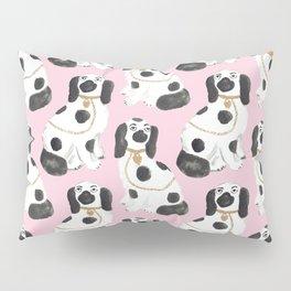Staffordshire Dog Figurines No. 2 in Light Bubblegum Pink Pillow Sham