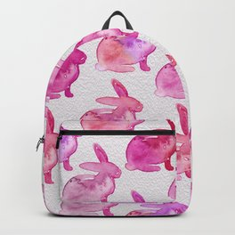 Watercolor Bunnies 1E by Kathy Morton Stanion Backpack