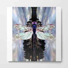 Transcending Dragonfly Metal Print