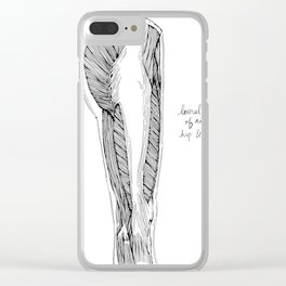 Lateral View of Right Hip & Thigh Clear iPhone Case