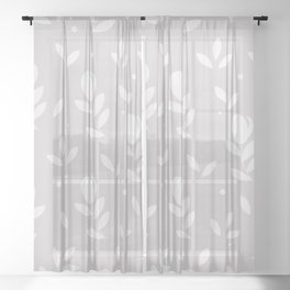 Let it bloom with tulips, floral pattern design Sheer Curtain