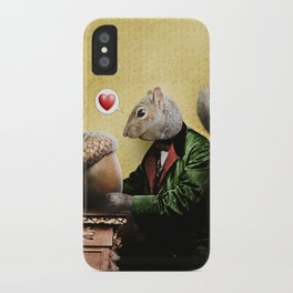 Mr. Squirrel Loves His Acorn! iPhone Case