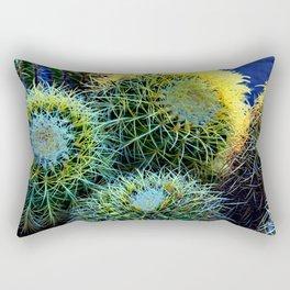Colorful Golden Ball Cactus Rectangular Pillow